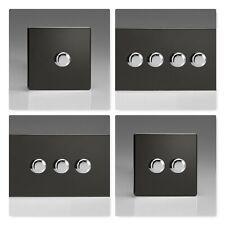 Varilight Sin Tornillos Premium LED & Halogeno Atenuador Plástico Negro conmutadores de luz