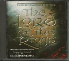 JRR Tolkien's Lord of the Rings soundtrack CD by Leonard Rosenman RARE Intrada