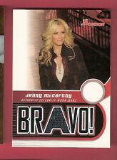JENNY MCCARTHY 05 BOWMAN WORN JEANS SWATCH RELIC MATERIAL CARD ACTRESS THE VIEW