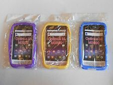 (LOT OF 3) NEW Silicone SOFT Case PURPLE YELLOW and BLUE for LG Optimus M MS690