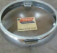 1973 1974 1975 YAMAHA RD350 RD250  FACTORY OEM HEADLIGHT CHROME RIM