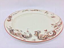antico Piatto ovale inglese  in ceramica circa 1890 aesthetic style