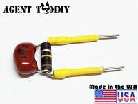 Treble/Volume Bleed Circuit Kit .001uf Silver mica cap 100k carbon comp resistor