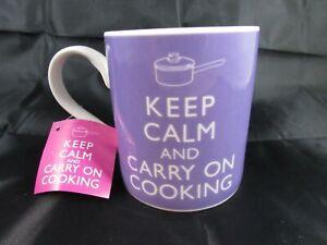 KEEP CALM and CARRY ON COOKING mug NEW!