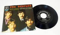 """THE BEATLES """"Hey Jude / Revolution"""" Italy M-/EX 1968 Parlophone 7"""" PS 45"""