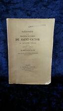 Catalogue bibliothèque de l'Abbaye de Saint-Victor au 16è siècle Rabelais 1862