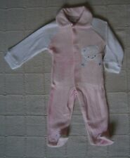 Vintage Stretch Terry Baby Suit - 3-6 months Approx - Pink/White - New - Defects