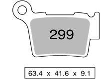 Couple plaquettes de frein arrière organique SHERCO SE 300 F, F-R 2015  TROFEO