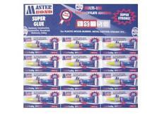 Set 12 Tubetti Colla Cianoacrilica Per Riparazione Plastica Metallo Legno 3g moc