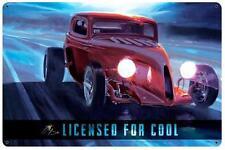 Hot Rod Drag Race Car Metal Sign Man Cave Garage Body Shop Club Tom Fritz TF003