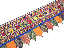 Extra Long Window Valance - 204 inch Hand Embroidered Indian Toran Decoration
