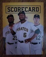 2018 Pittsburgh Pirates Scorecard - Ivan Nova Starling Marte Corey Dickerson