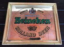 Heineken Imported Beer - Mirrored Glass Bar Wall Sign - Since 1592 Holland Beer