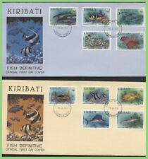 More details for kiribati 1990 fish definitives set on four first day covers