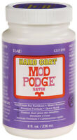 Mod Podge Satin Hard Coat Finish-8oz, Plaid:Craft,Part CS11245