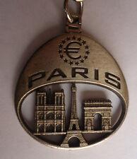 PORTE CLE PARIS TOUR EIFFEL NOTRE DAME ARC DE TRIOMPHE EUROPE RARE