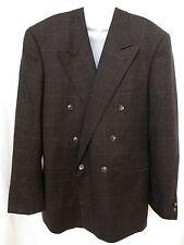 CORNELIANI Mens Wool Cashmere Gray Plaid Blazer Suit Jacket Sport Coat 42 52 L