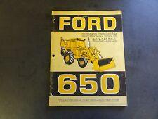 Ford 650 Tractor-Loader-Backhoe Operator's Manual