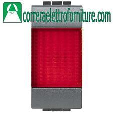 BTICINO LIVINGLIGHT antracite portalampada spia rosso L4371R