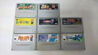 lot 8 SNES  game Super NES soft  Mario Rockman Donkey Kong Super Robot Wars F/S