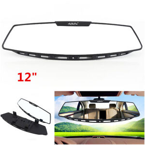 "12""Car Interior Clip On Wide Angle Rear View Mirror Curve Convex Rearview Mirror"