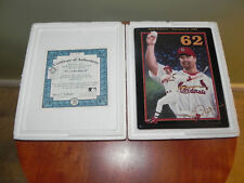 """MARK McGWIRE~KING OF SWING~""""RECORD-BREAKING 62""""#63012"""