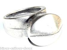 BAMBOLEO Bague plaqué argent style moderniste T 52 bijou ring