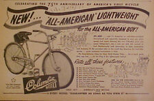1952 Columbia Bicycles ALL~AMERICAN 75th Anniversary Boys Bike Trade Promo AD