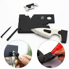 Multi-Purpose 10-In-1 Outdoor Emergency Survival Card Camping Hiking Pocket Tool