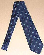 Brooks Brothers Makers NECKTIE TIE Silk GREEN Blue WHITE CHECKER GEOMETRIC RARE
