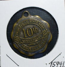 Princeville Illinois State Bank Anniversary Medal