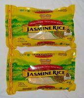 (2 x 5LBS) Golden Star Jasmine Rice Prime Grade Thai Hom Mali GMO & Gluten Free