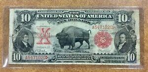 $10 1901 Legal Tender - BISON - US Note  good color Fr. 115