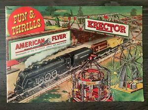1949 American Flyer Trains A.C. Gilbert Toy Catalog Erector Set Vintage Original