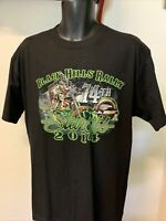 Hot Leathers Men's 2014 Sturgis Black Hills Rally T-shirt  Sz L Graphic Bike NWT