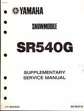 1983 YAMAHA SR540G SUPPLEMENTARY SERVICE MANUAL LIT-12618-00-49  (410)