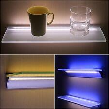 2er, 3er, 4er SET Glasregal mit doppeltem Aluprofil und zwei LED-Bändern