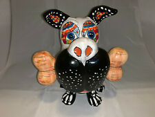 Bull Terrier Bully Dog #3 Talavera Pottery Statue Sculpture Mexican Folk