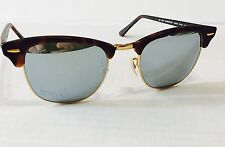 Ray Ban RB3016 1145/30 HAVANA GOLD / SILVER MIRROR 51mm NEW AUTHENTIC Clubmaster