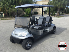 NEW SILVER 4 PASSENGER ADVANCED EV LSV STREET LEGAL LIMO GOLF CART FAST LUX SEAT