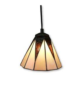 Htdeco - Lampe suspendue Tiffany - en verre - Luminaire de table et de chevet