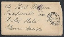 Russia covers 1911 backside franked cover to Thompsonville