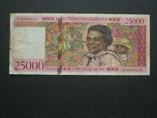 **1st Issue 'A' Madagascar 25000 francs Banknote***