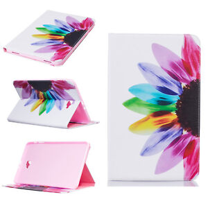 Colorful Slim Stand Flip Wallet Leather Case Rubber Cover For Samsung Galaxy Tab