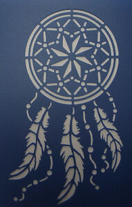 Scrapbooking - STENCILS TEMPLATES MASKS SHEET - Dream Catcher Stencil