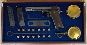 PISTOL GUN PRESENTATION CUSTOM DISPLAY CASE BOX for COLT m1911 Government m1912