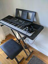 Yamaha Psre363 Portable Electronic Keyboard with Stand, Bench, and Headphones