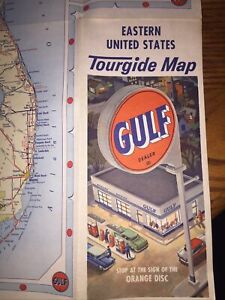 Vintage GULF DEALER ~ Eastern United States Tourgide Gas Station Road Map