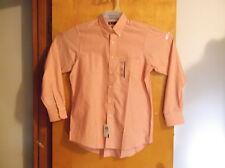 """NEW MEN'S """"CHAPS"""" DUSTY ORANGE  L/S DRESS SHIRT..SIZE .(15-15.5)--(34/35)"""