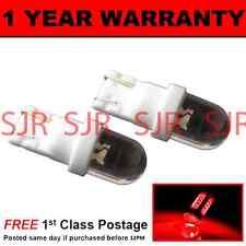 W5W T10 501 Xenon ROSSO DOME LED Hi-Level FRENO Lampadine X2 HID hbl100101